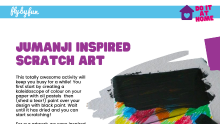 Jumanji Inspired Scratch Art