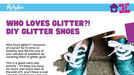 Who Loves Glitter? DIY Glitter Shoes